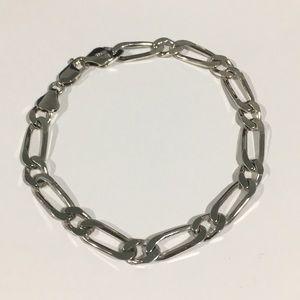 Other - Sterling Silver 925 Figaro Link Bracelet